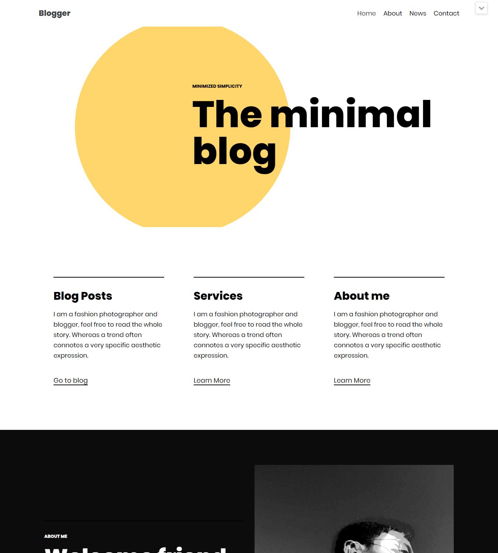 WordPress blog theme neve