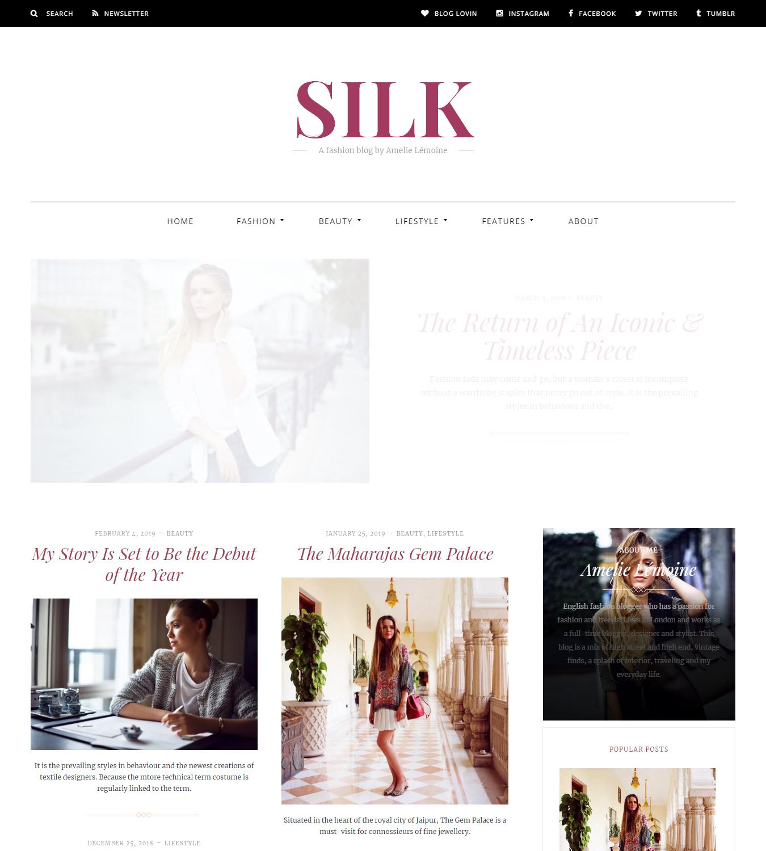Fashion blogger themes