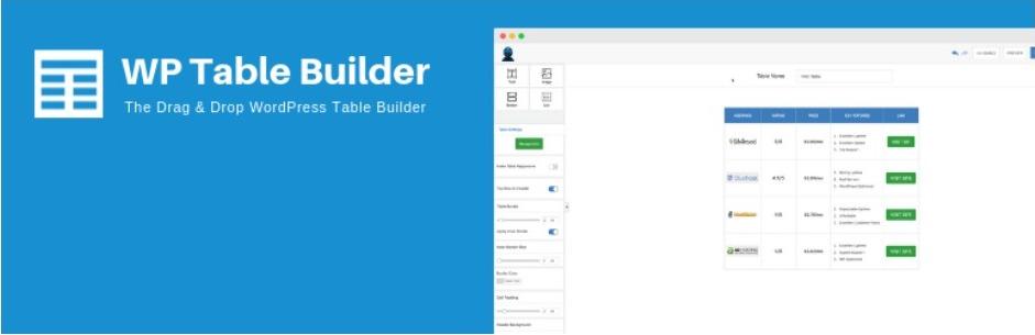 WP Table Builder – WordPress Table Plugins