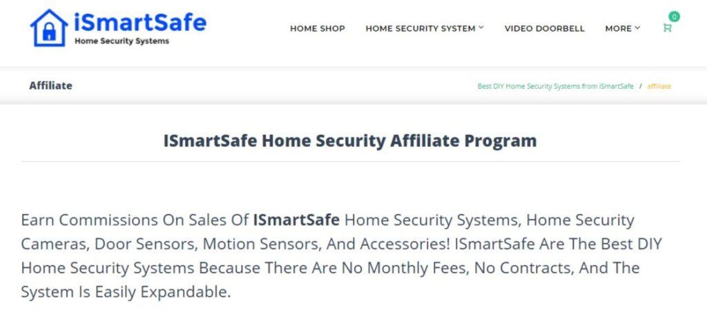 Ismartsafe home security affiliate programs