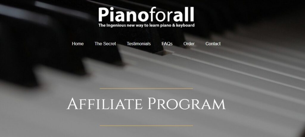 piano for all Music affiliate programs