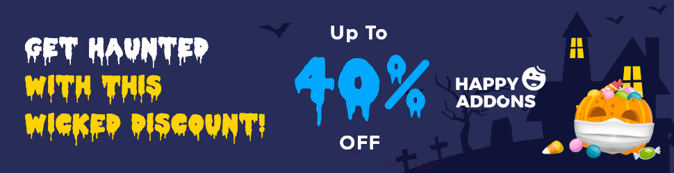 Happy Addons Halloween WordPress Deal - Up to 40% Off