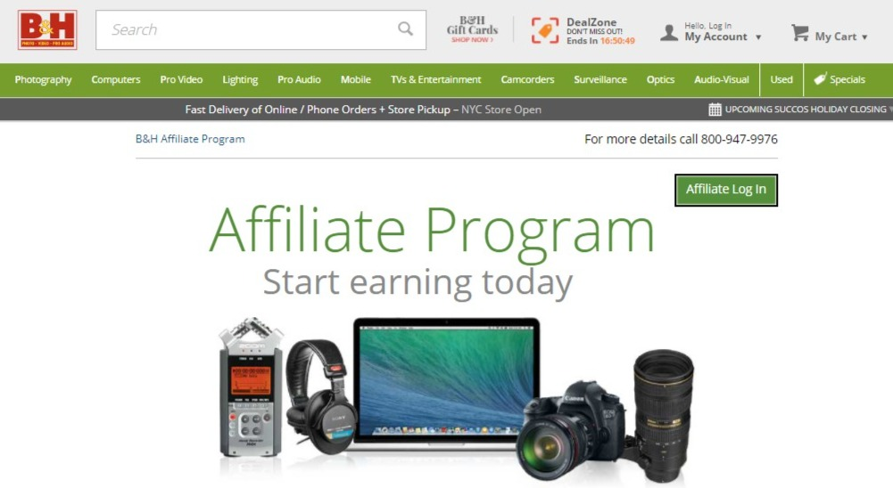 B&H Photo and Video Affiliate Program