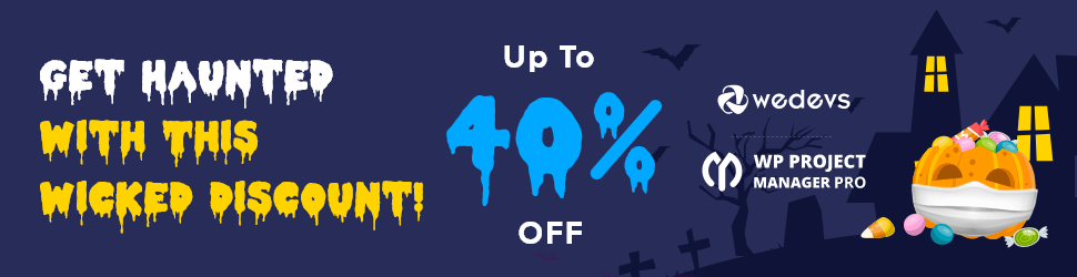 wp project manager Halloween wordpress Deals 2020