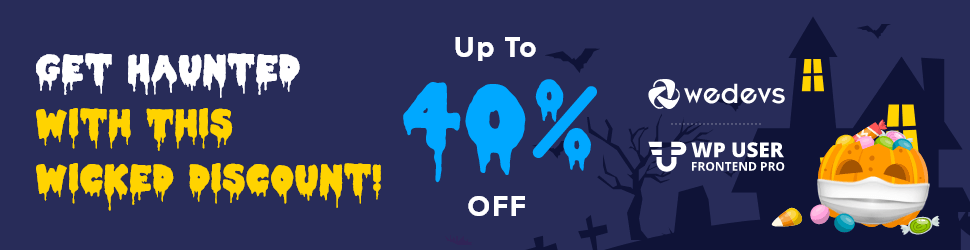 wp user frontend Halloween wordpress Deals 2020